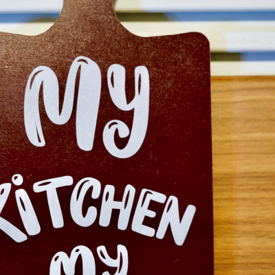 Kitchen Rules Wall Quotation