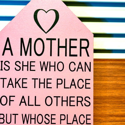 Mother can Take Wall Quotation (Pink)