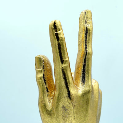 Gold Hand Sign-1 Sculpture