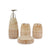 Light Brownish Textured Lines&Spots Design Bath Set