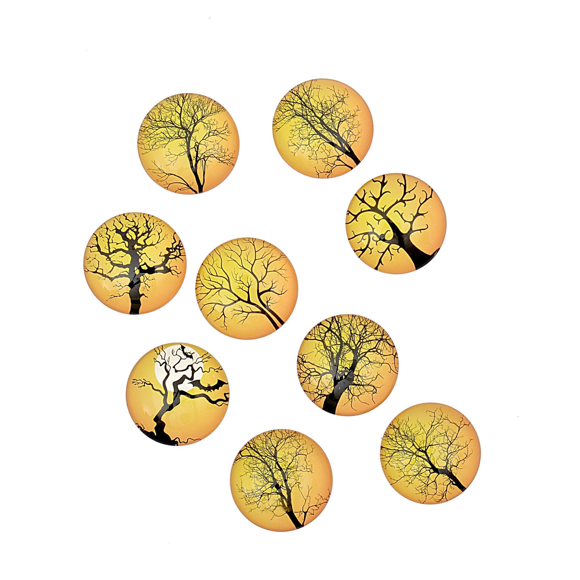 Decorative Tree Design Fridge Magnets (Pack of 2)