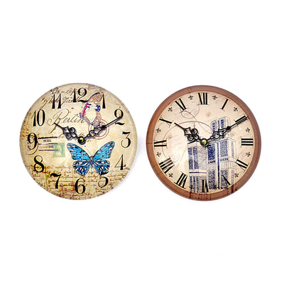 Decorative Clock Design Fridge Magnets (Pack of 2)