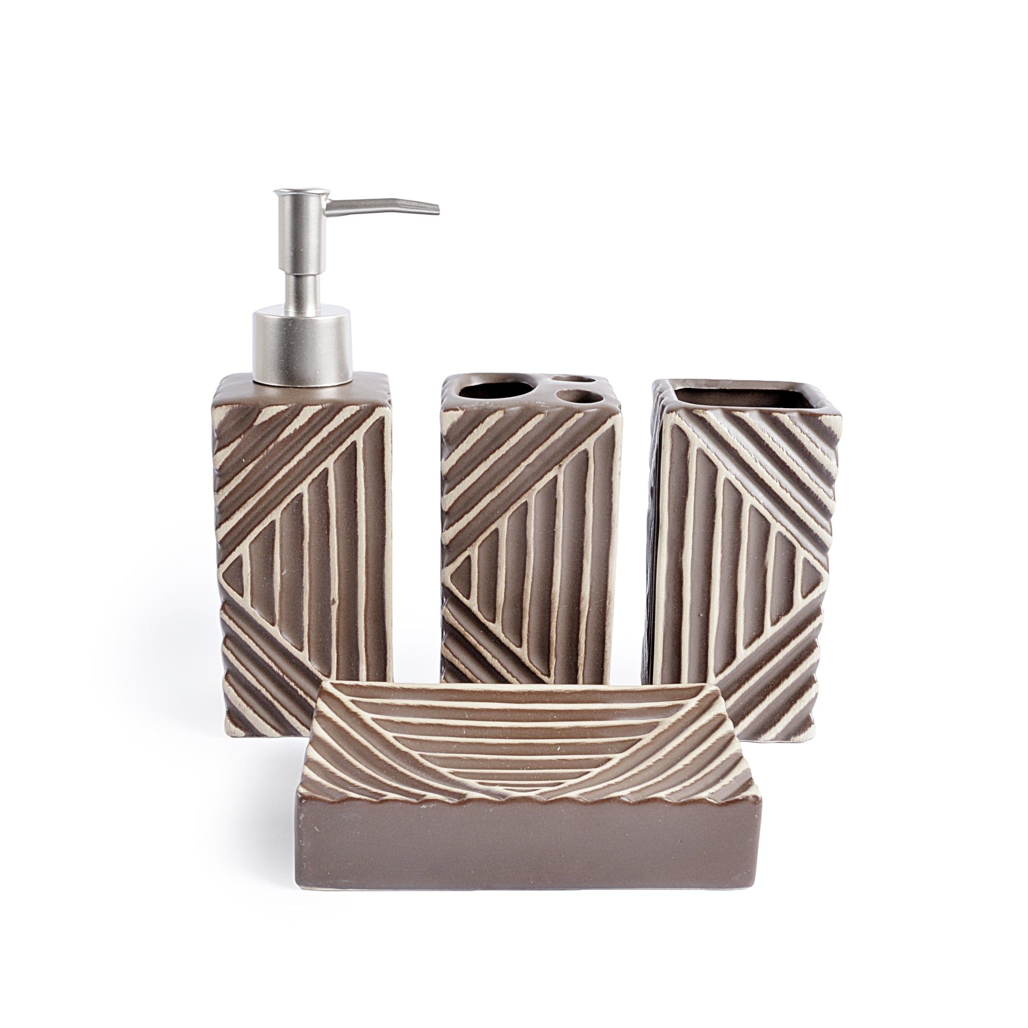 Triangle Texture Design Bath Set