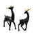 Modern Creative Deer Figurines (Black)