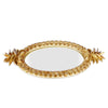 Decorative Pineapple Design Mirror Tray
