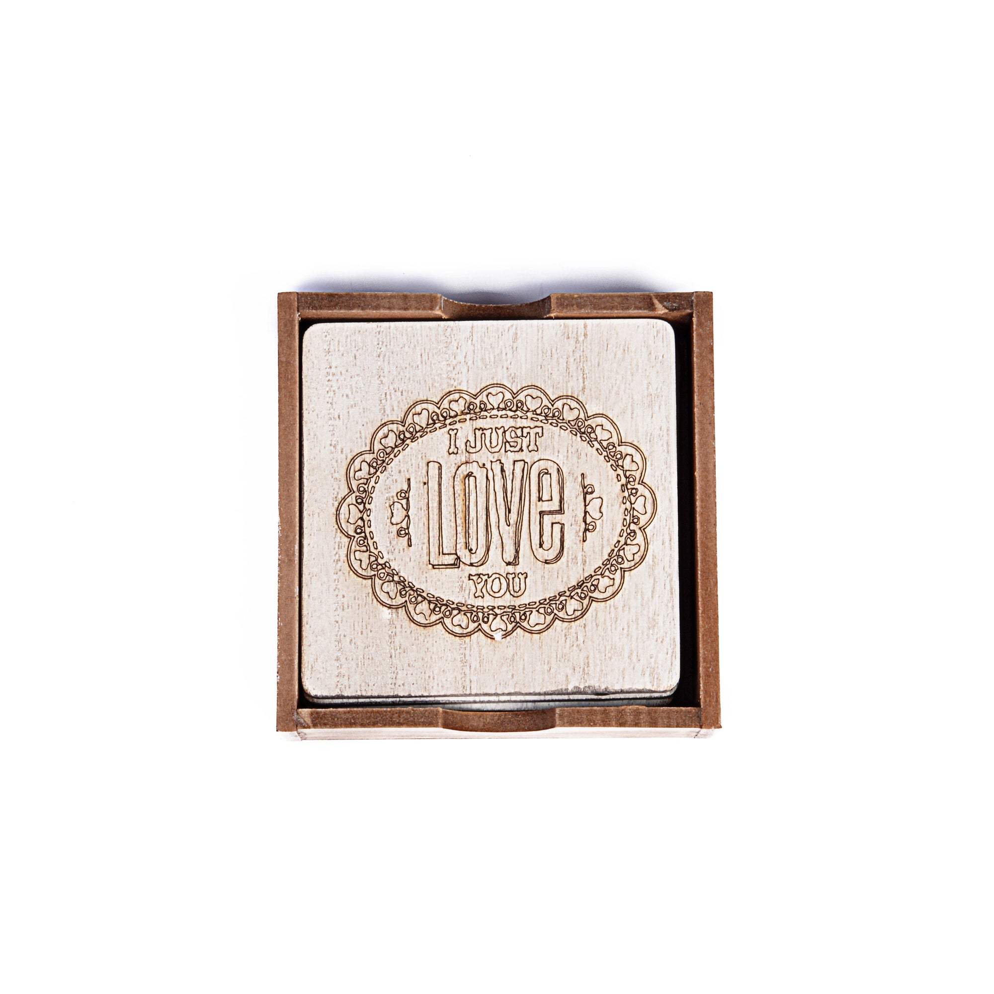 Hand en graved Table Coasters Quotations