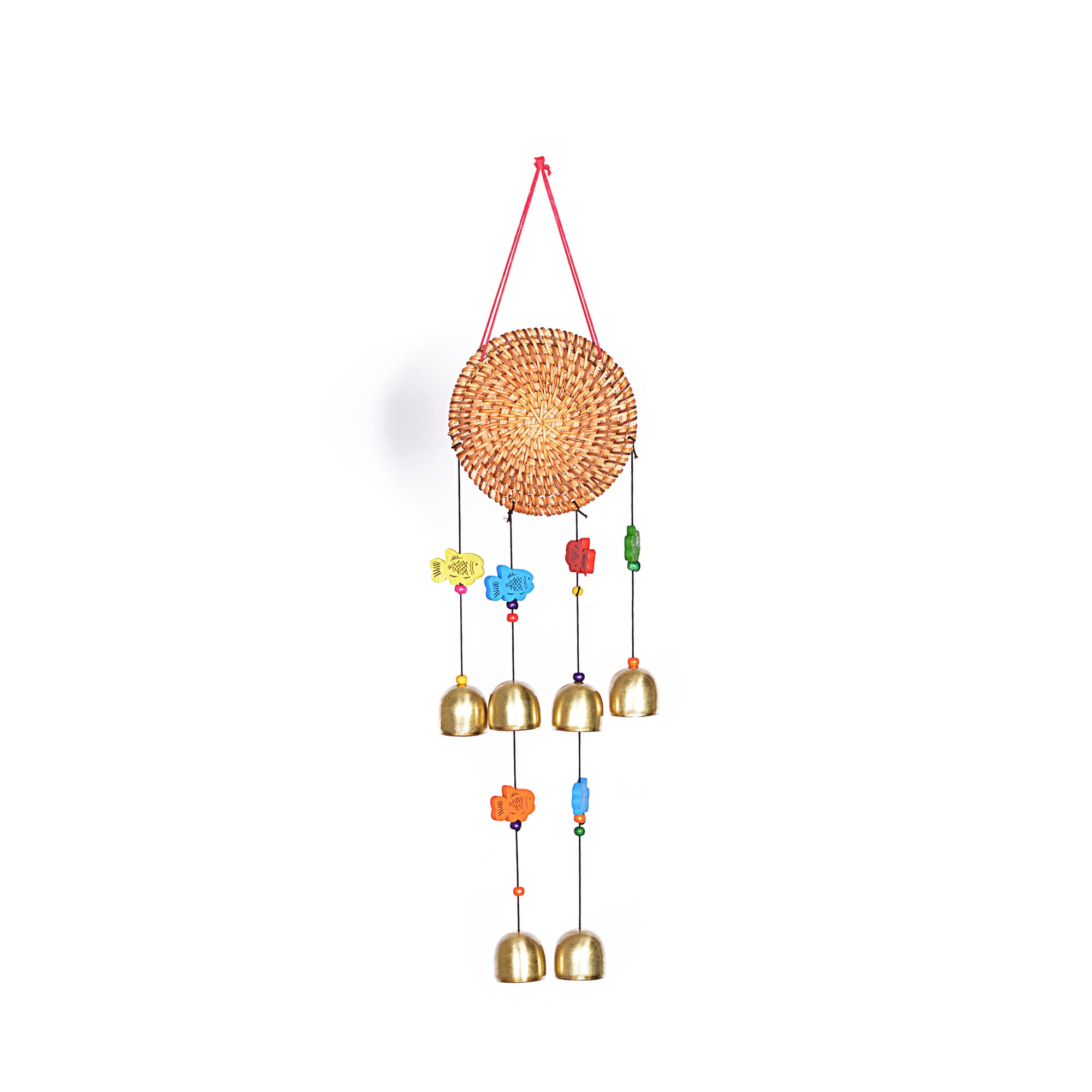 Wind Chimes with Decorative Round Design