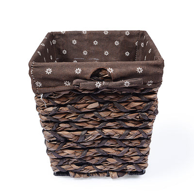 Braided Basket Fabric Lining with Tissue box