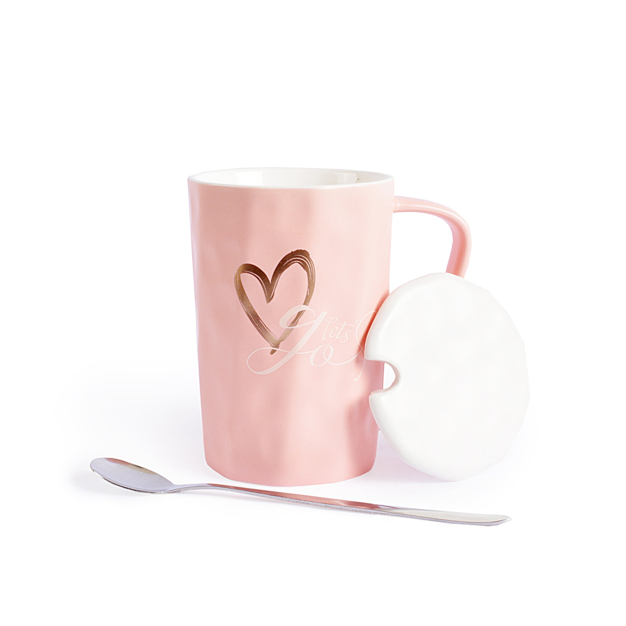 Good Day Design Ceramic Mug With Lid & Spoon