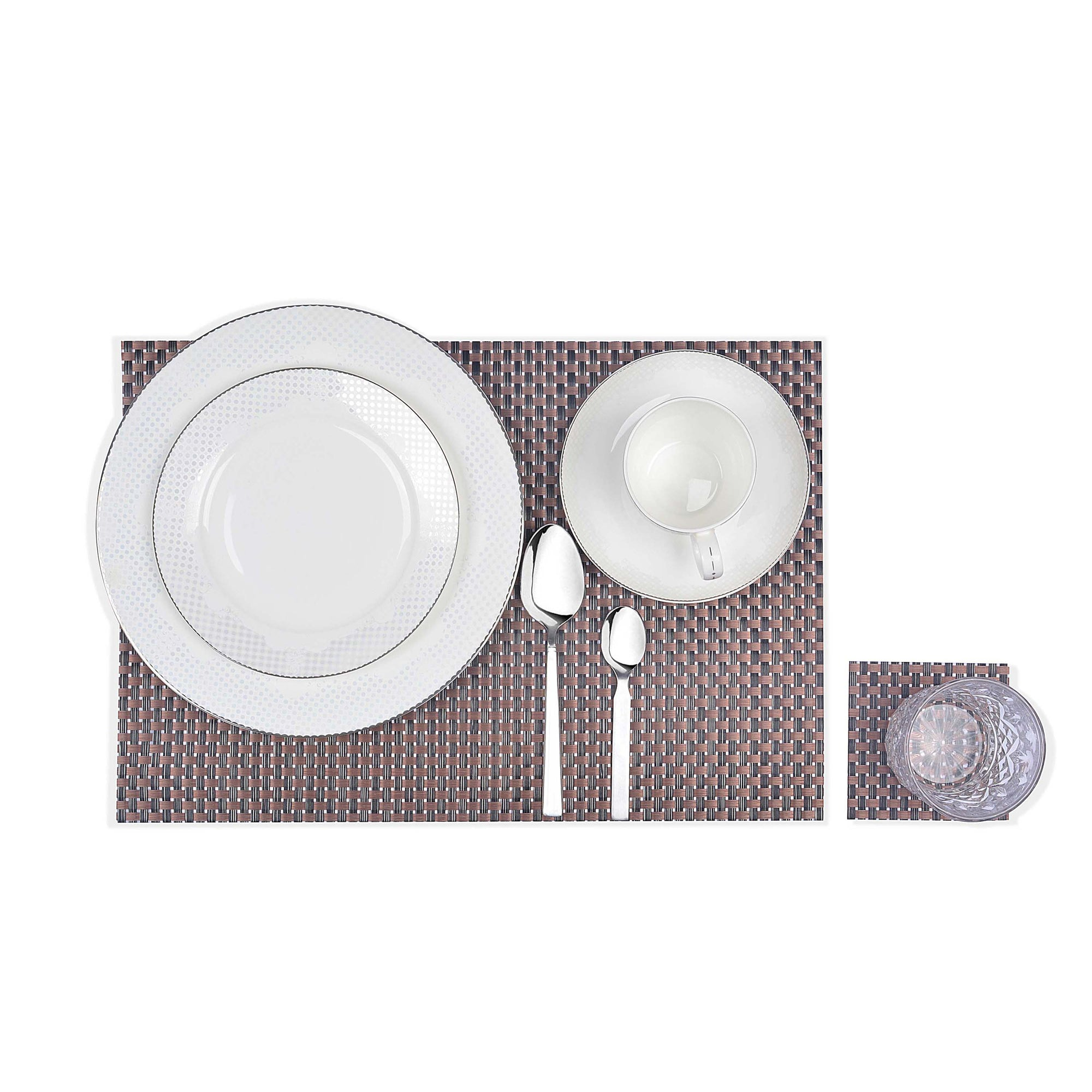 Braided Textured Plastic Place-mat (Set of 2)