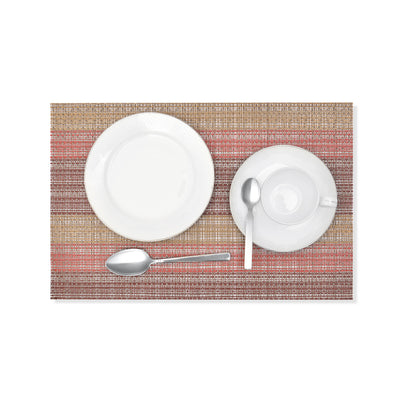 Gold & Red Textured Plastic Place-mat (Set of 2)