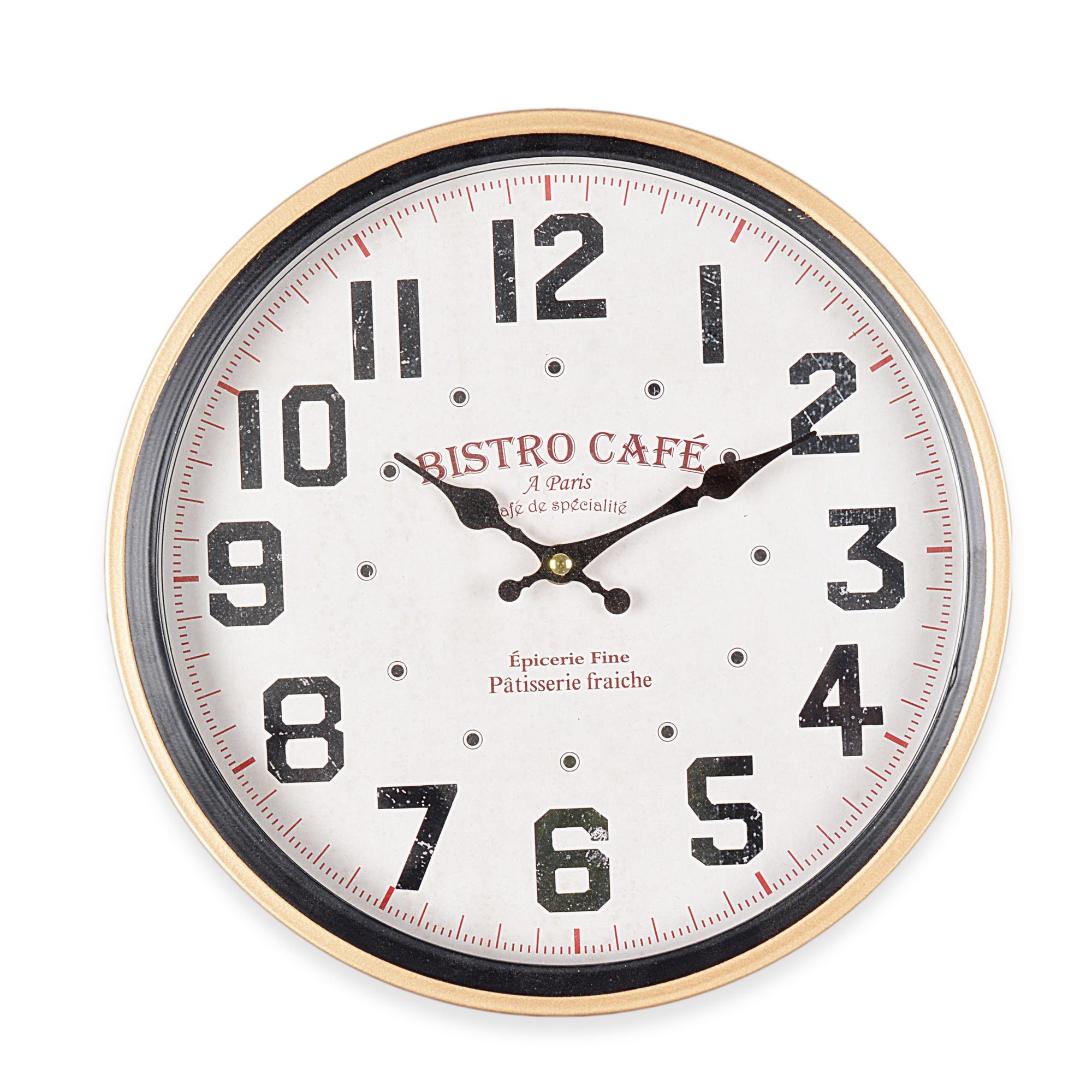 Bistro Cafe Paris Wall Clock