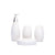 Floral Design Bathroom Set (White)