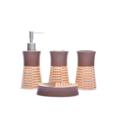 Strap Design Bathroom Set (Brown)