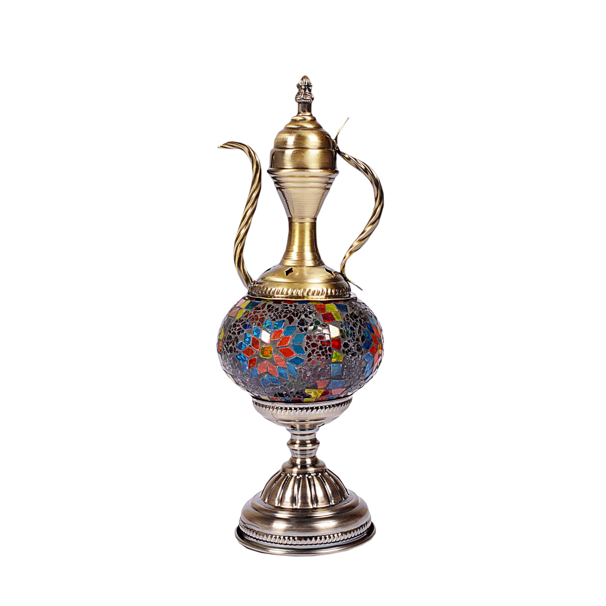Traditional Turkish Style Mosaic Multicolored Lamp