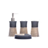 Strap Design Bathroom Set (Black)