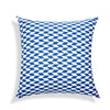 Blue & White Pattern Cushion Cover