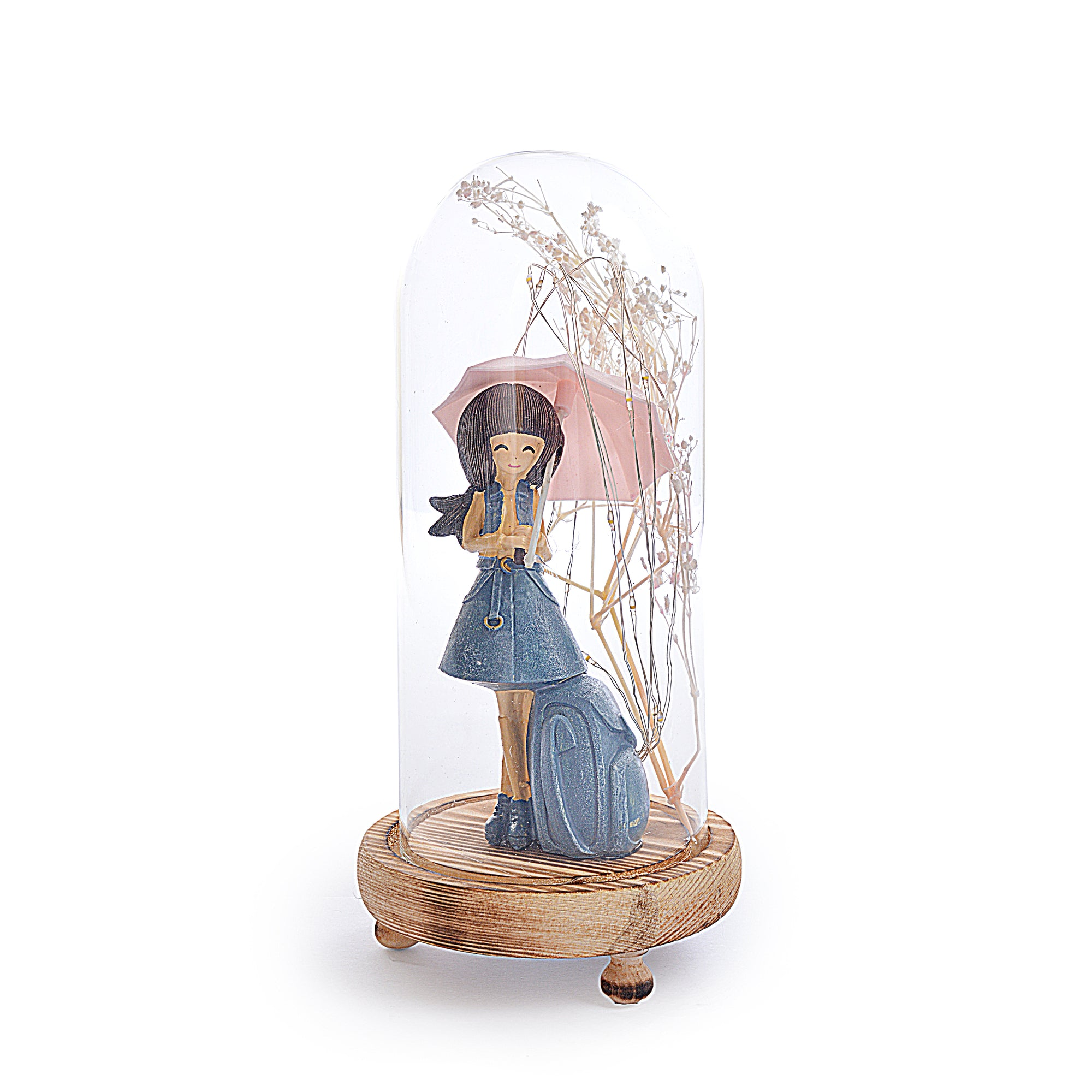 Decorative Girl Statue Design Lightning Pot Poori