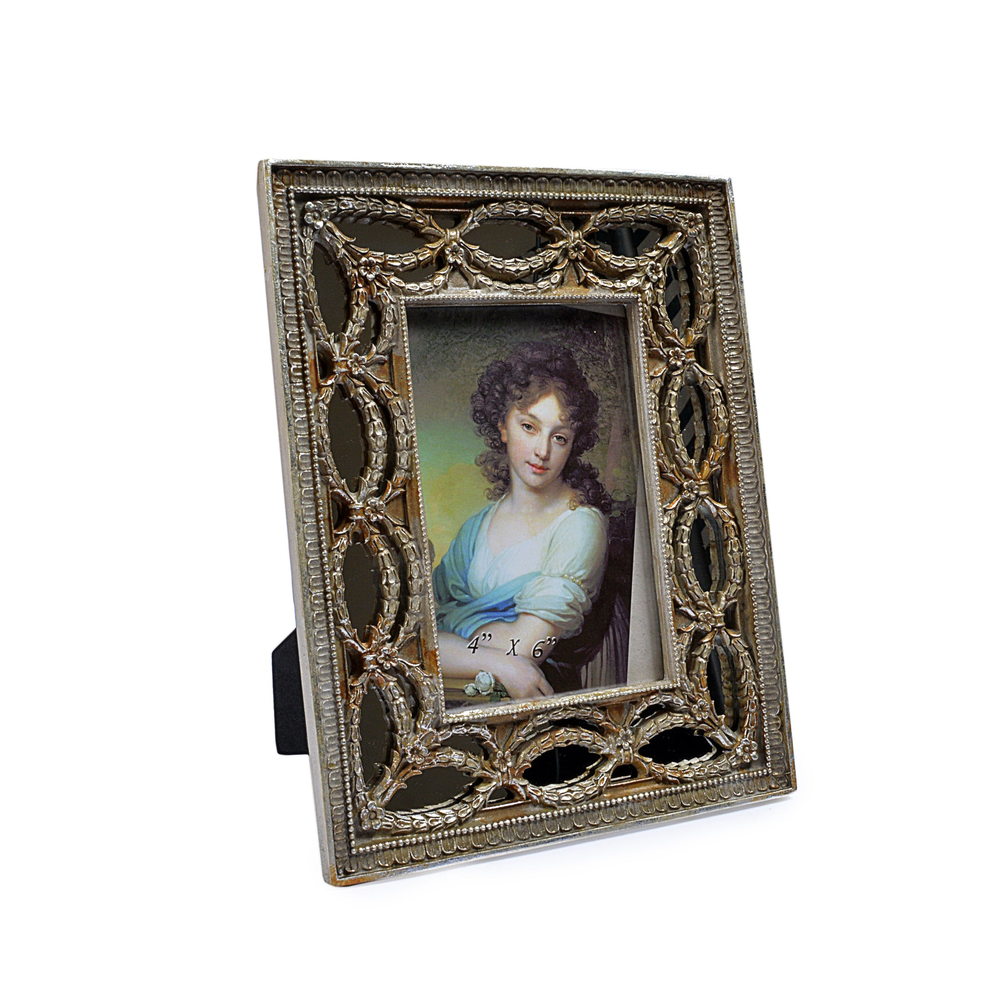 Mirror Effect Royal Wooden Design Photo Frame