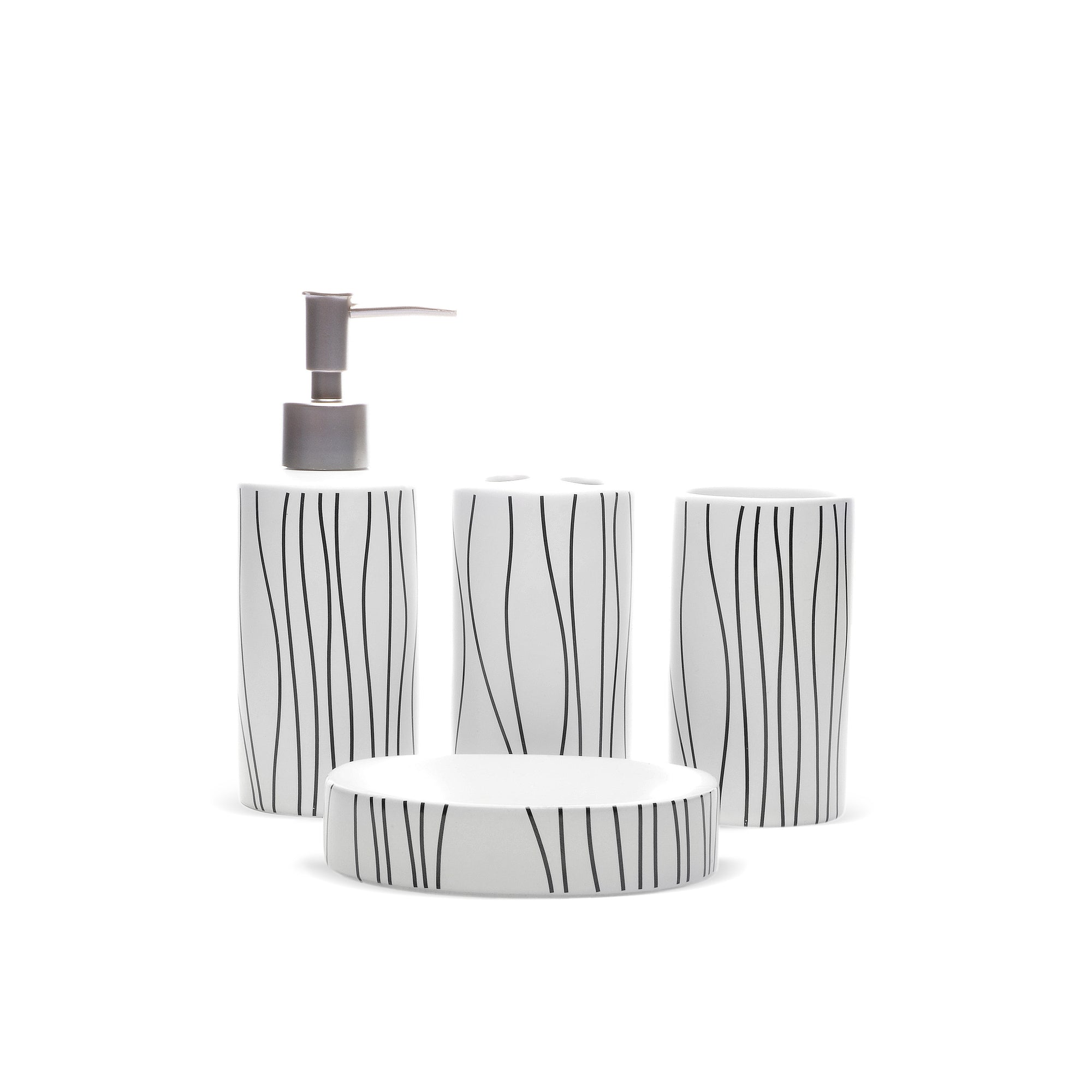 Wave- Lines Design Bathroom Set