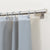 Pebble Matelassé Grey Shower Curtain With Rings