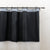 Pebble Matelassé Black Shower Curtain With Rings