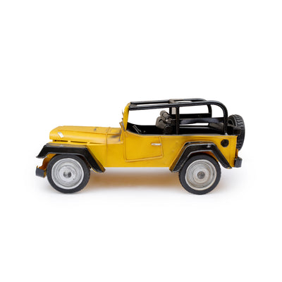 Classy Yellow Metal Jeep
