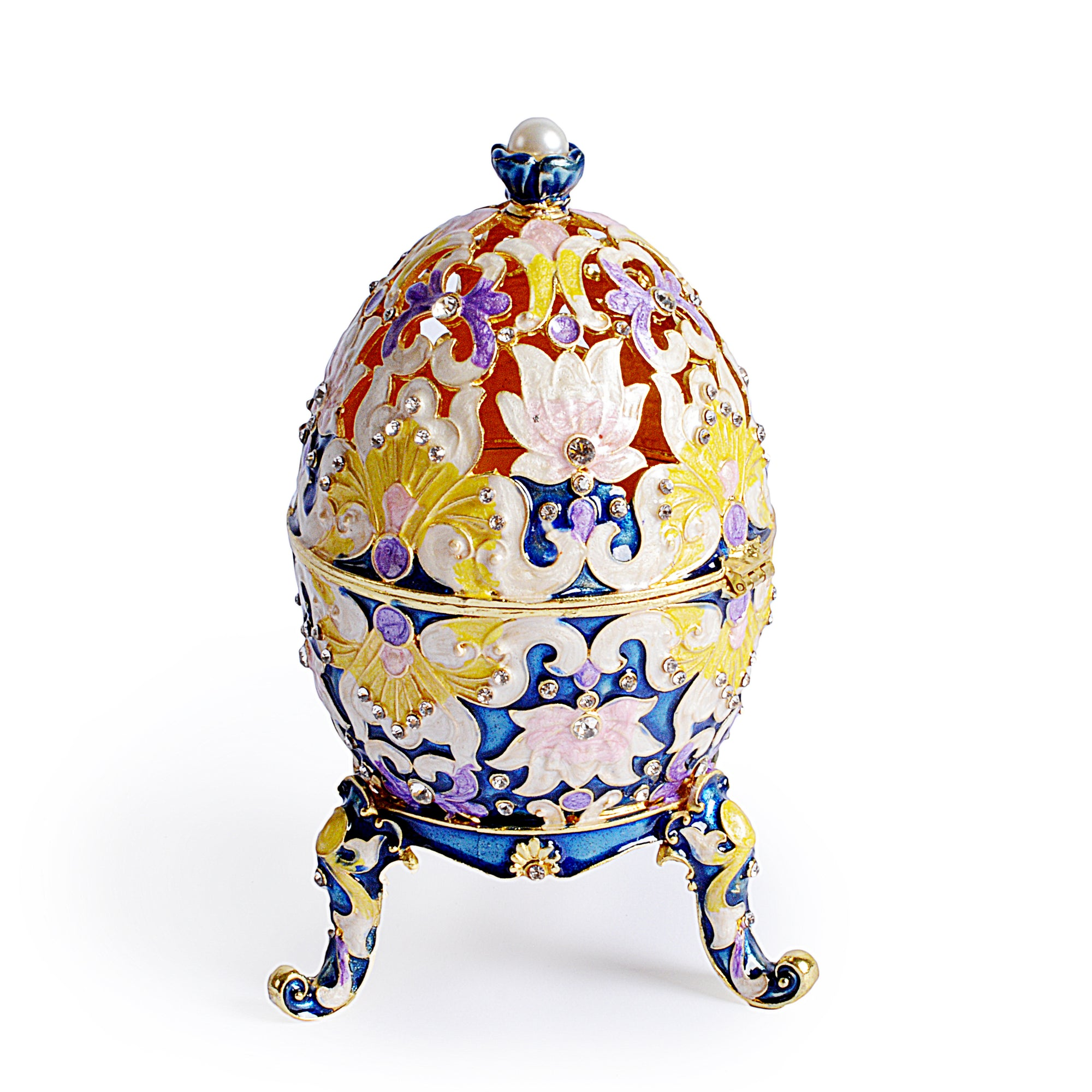 Decorative Traditional Design Egg Shape Jewelry Box