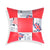 Leather Block Cushion Cover (Red & white )