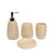 Embossed Lines Textured Bath Set of 4