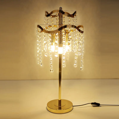 Golden Votive Beads Table Lamps