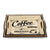 Decorative Wooden Coffee Design Tray (Set Of 2)