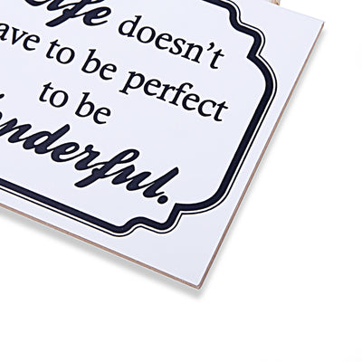 Wonderful Life Wall Quotations (White)