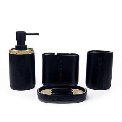 Essential Bathroom Set (Black)