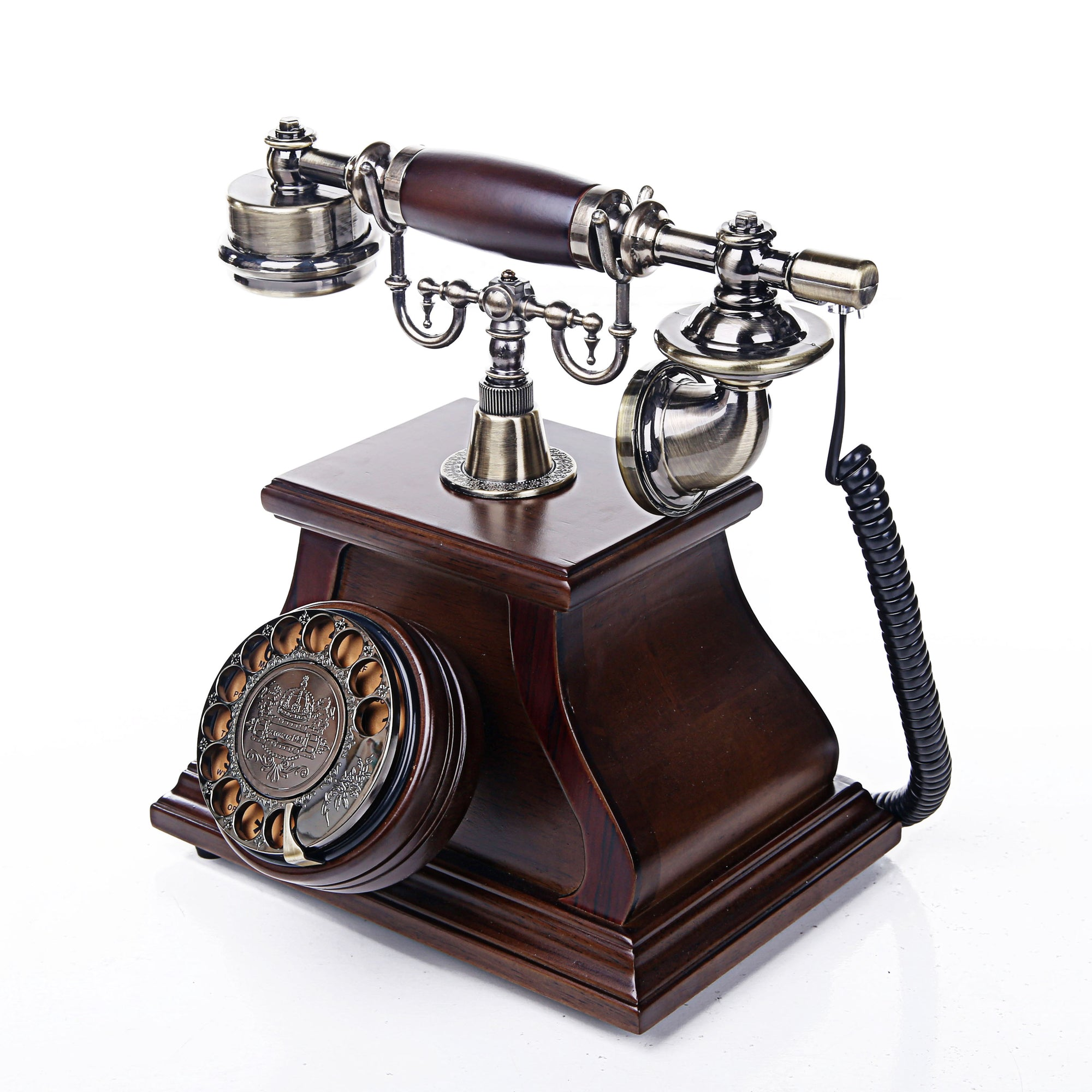 Wooden Retro Telephone