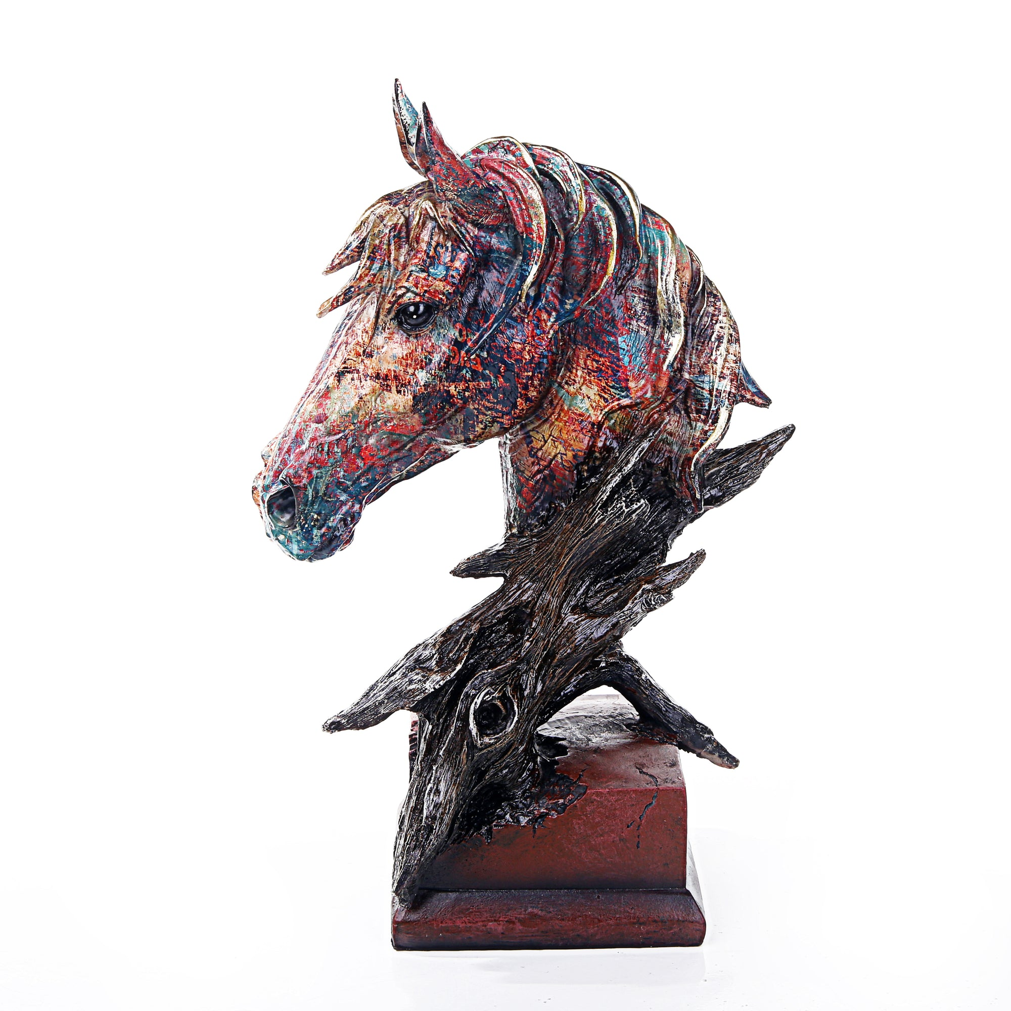 Multi Color Horse Face Sculpture