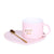 Heart Pink Mug With Tray & Spoon
