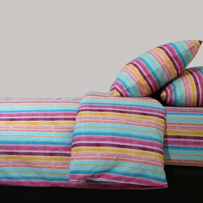 Vibrant Colors Satin Bed-Set (6 Pc)