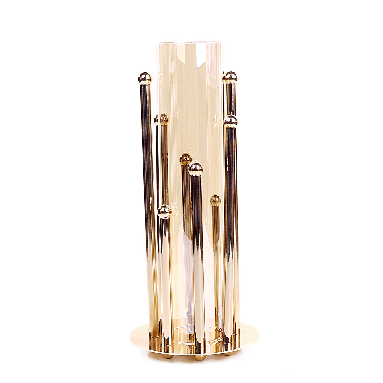 8-Pillar Design Hurricane Candle Holder