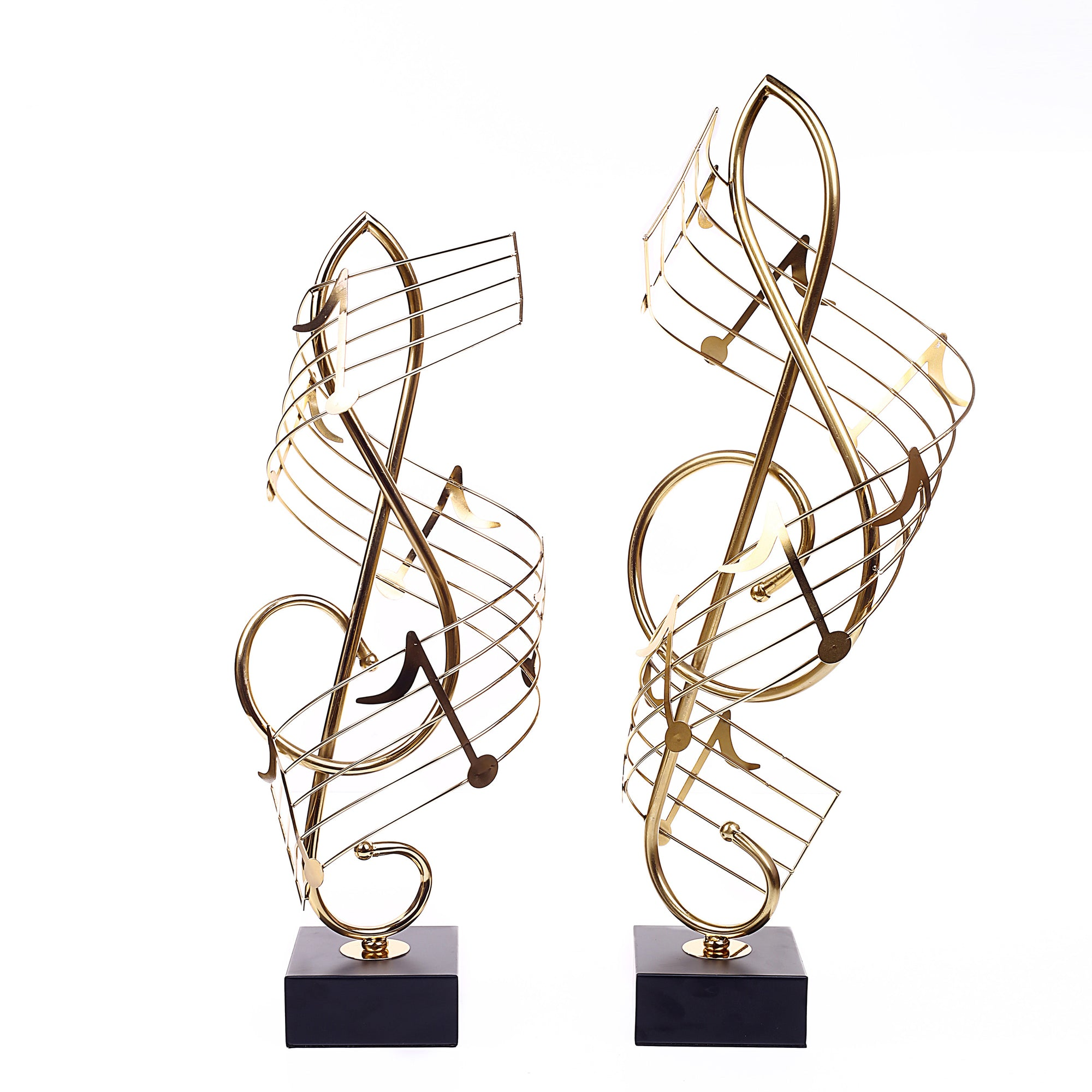 Music Notes Brass Ornament (Pair)