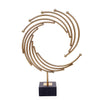 Orbit Spiral Brass Ornament (Pair)