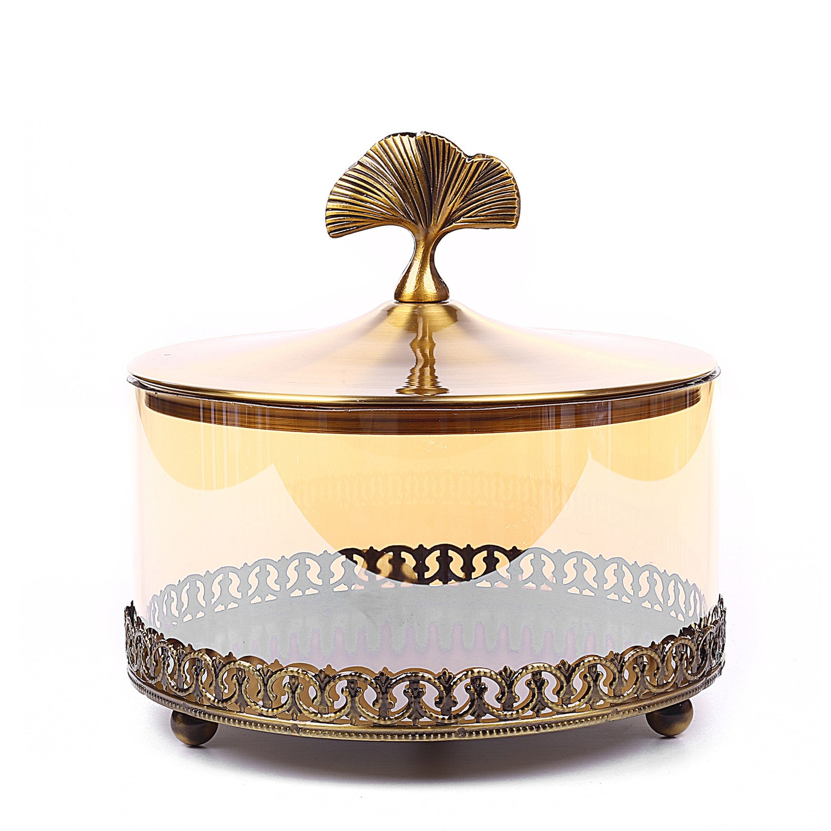 Golden Design Cake Stand & Candy Holder