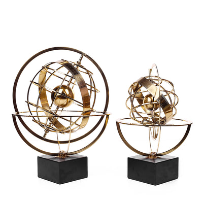 SOLID BRASS Dial Sphere World Desk Globe