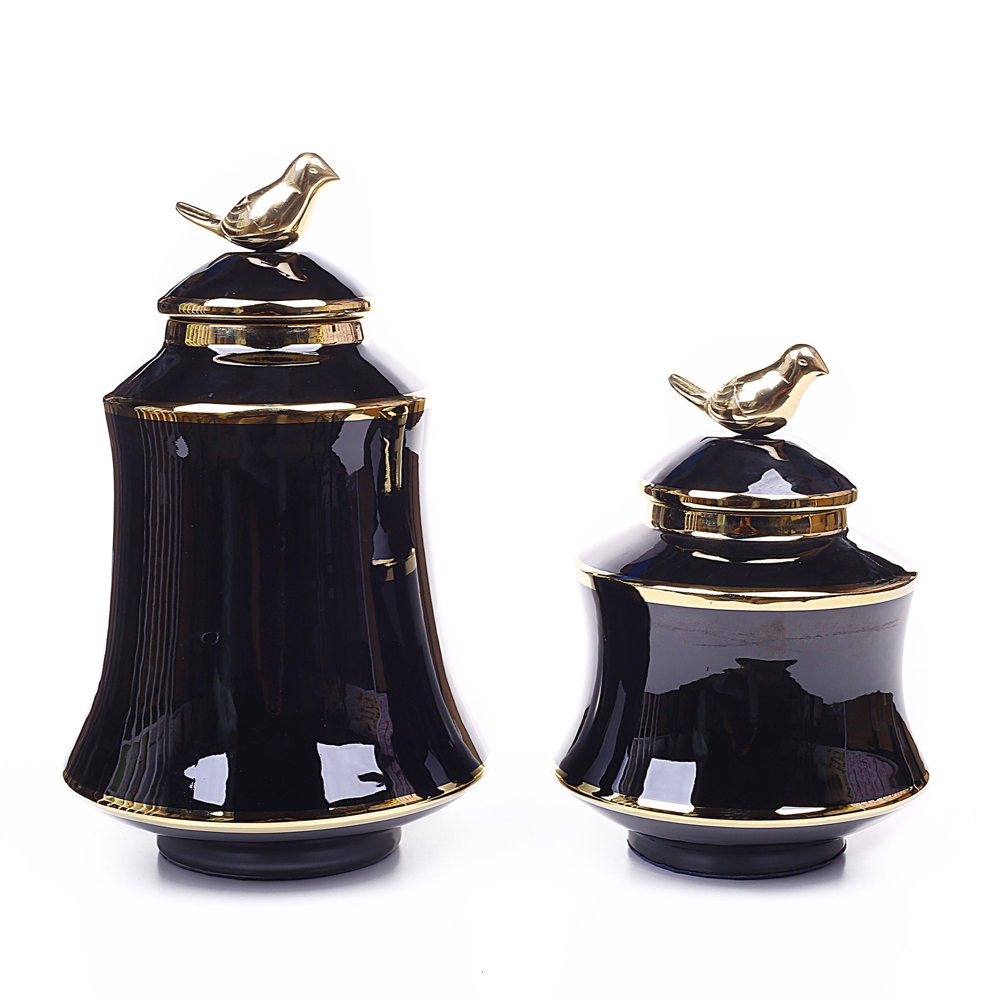 Modern Sparrow Design Vases With Reflective Effect