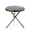 Adeco Accent Golden Cylindrical Brass Table