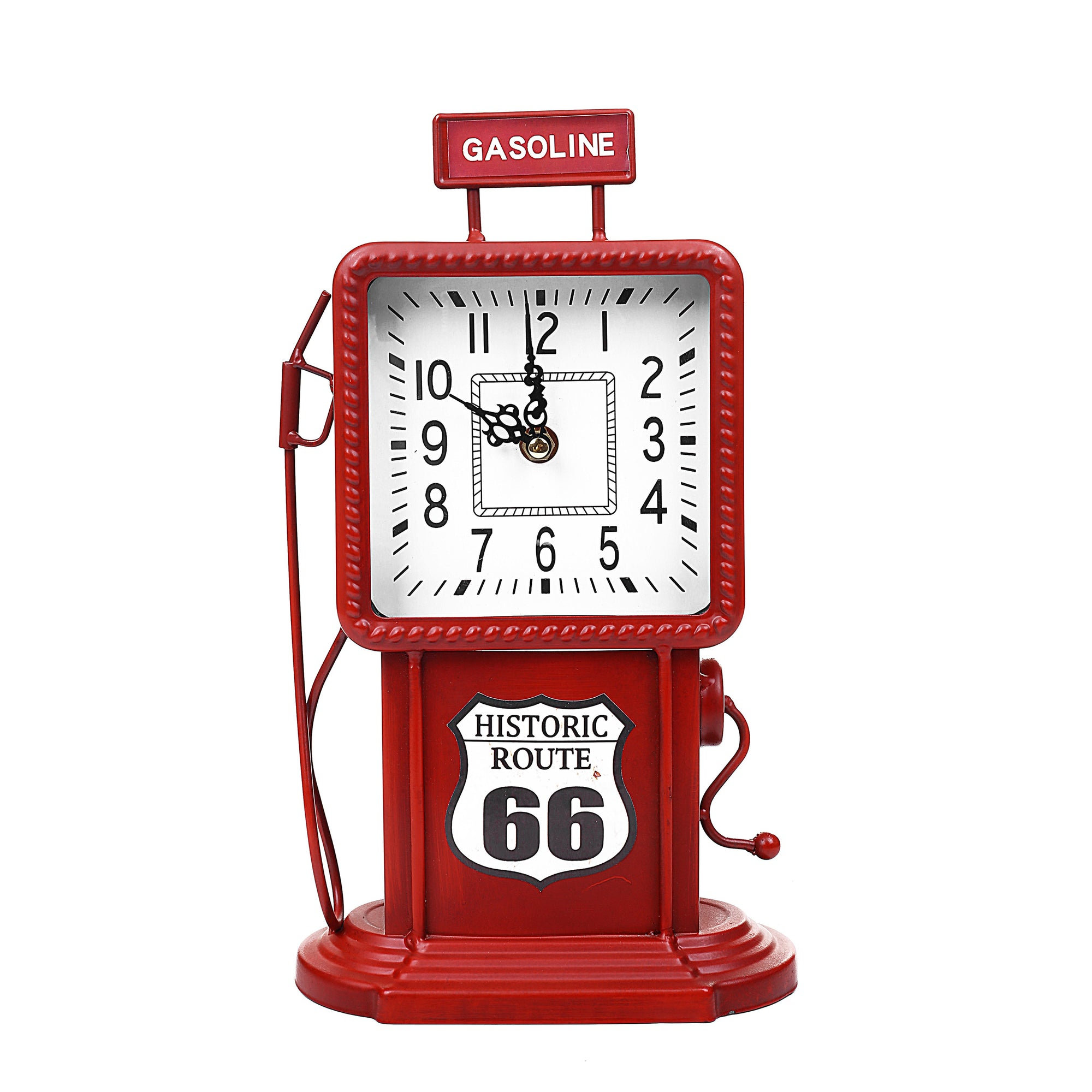 Antique Metal Gasoline Pump Design Clock
