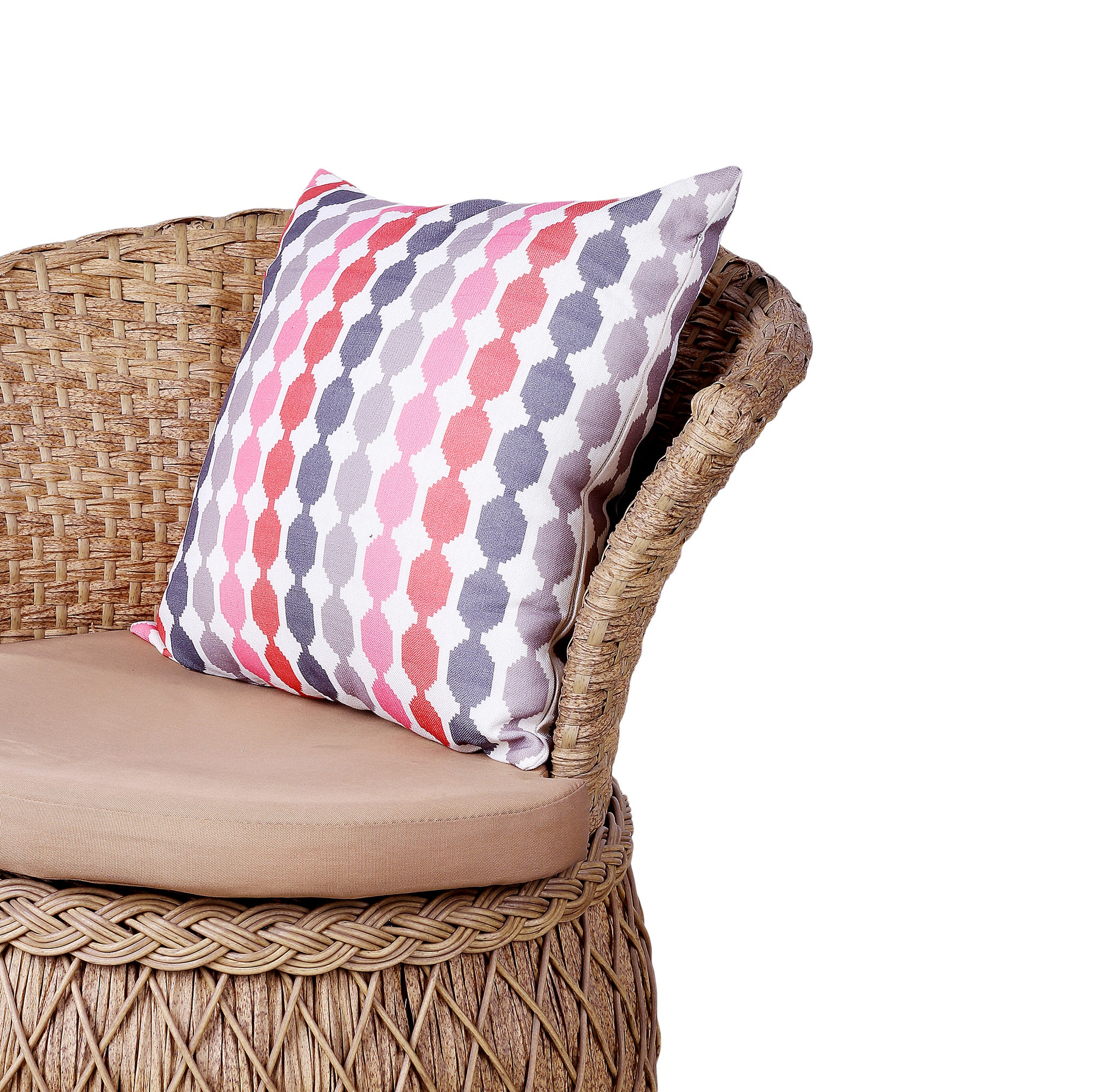Multi Pattern Lines Design Cushion Cover