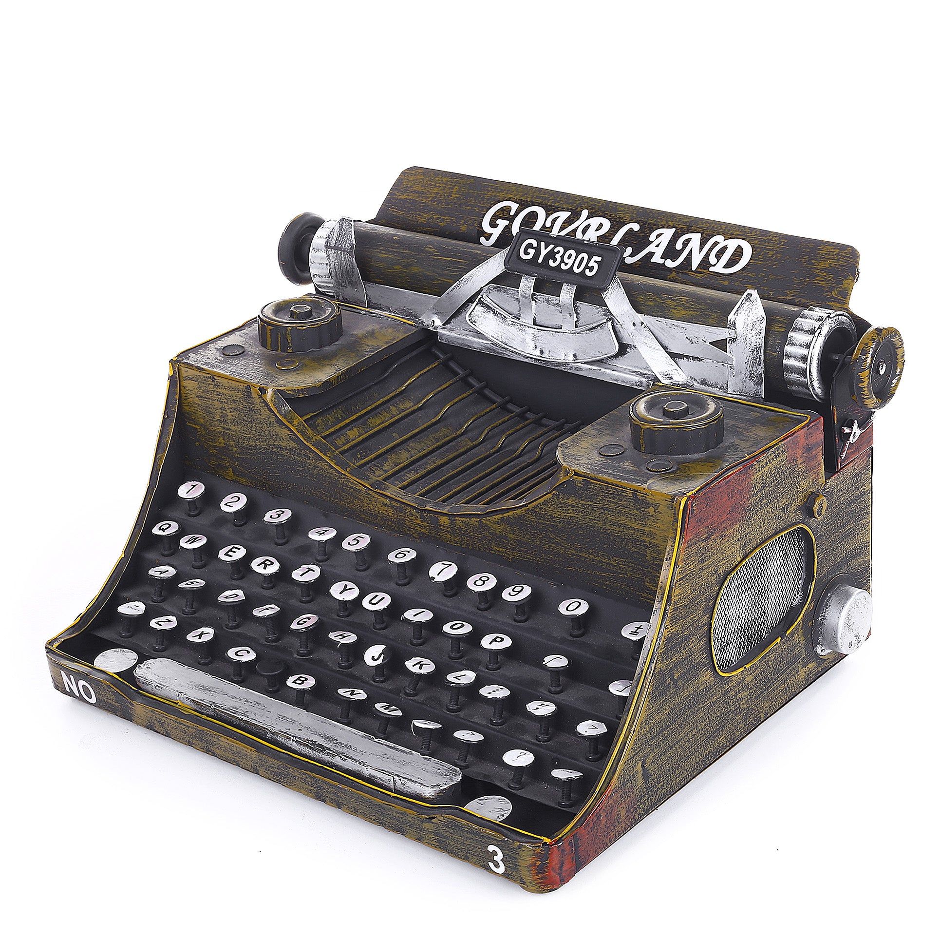 Decorative Metal Typewriter