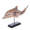 Dolphin Wooden Decorative Figurine