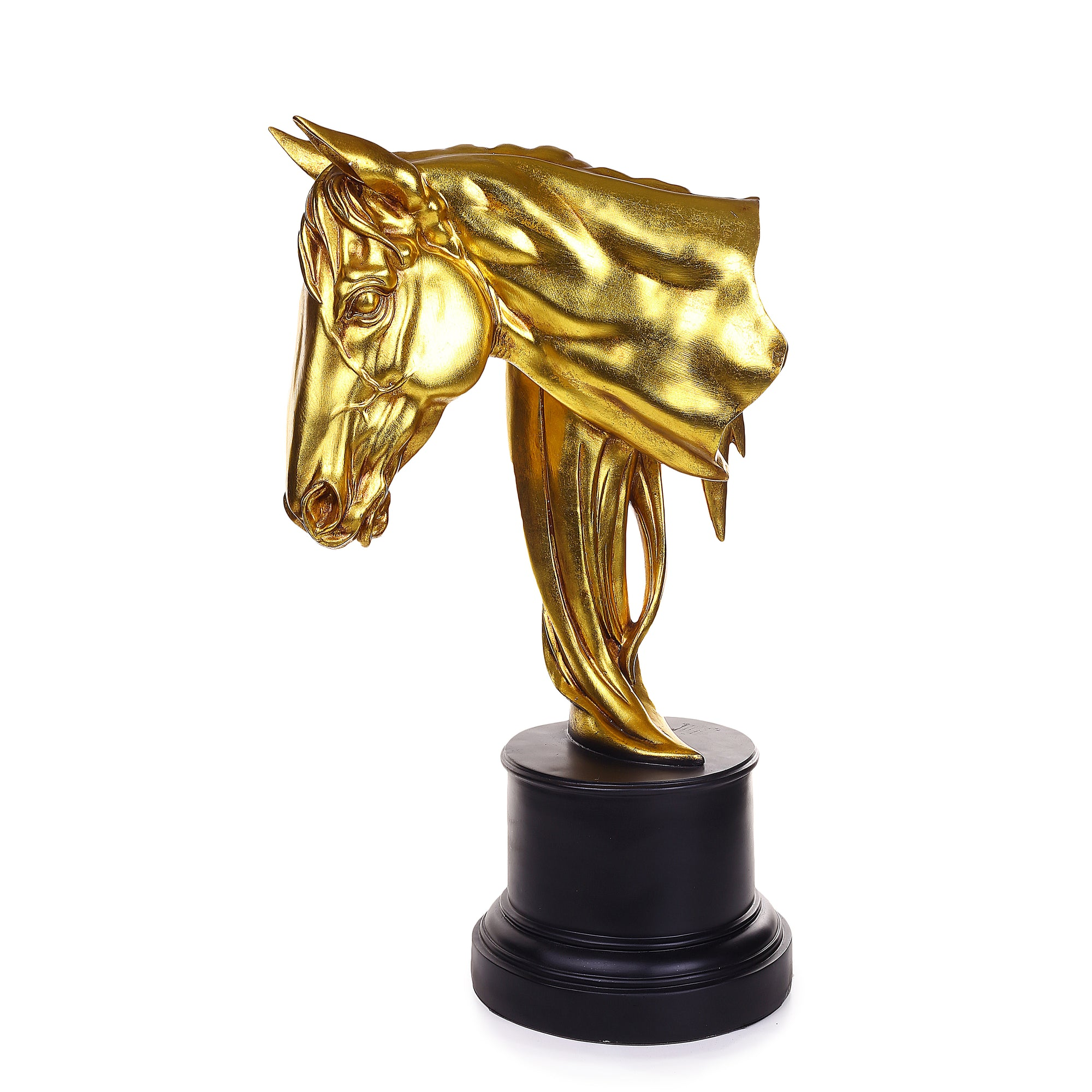 Golden Contemporary Horse Sculpture